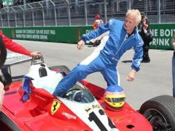Jacques Villeneuve a Montreal con la 312 T3 del papà Gilles. Lapresse