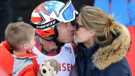 Bode Miller e la moglie Morgan Beck con il primogenito del campione