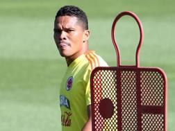 Carlos Bacca in maglia Colombia. Ansa