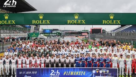La foto di gruppo della 24 Ore di Le Mans 2018
