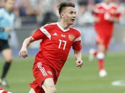 Alekasndr Golovin, 22 anni, centrocampista russo del Cska. Ap