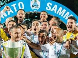 La Fiorita festeggia la vittoria del campionato sammarinese 2017-18. Instagram