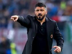 Rino Gattuso, 40 anni, allena il Milan dal novembre 2017. Ansa