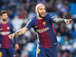 L'esterno del Barcellona  Aleix Vidal, 28 anni. Epa