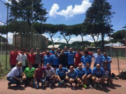Foto di gruppo a Rebibbia