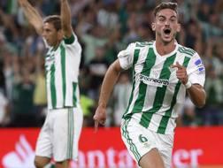 Il centrocampista del Betis Fabian Ruiz, 22 anni. Epa