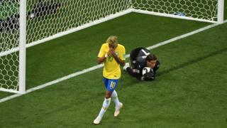 La delusione di Neymar. Afp