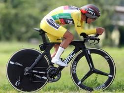 Richie Porte, australiano, 33 anni, impegnato nella crono conclusiva del Giro di Svizzera 2018 (Bettini)
