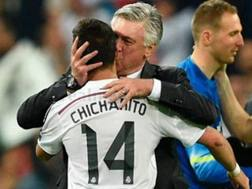 Ancelotti col Chicharito