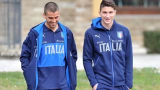 Leonardo Spinazzola, 25 anni, e Mattia Caldara, 24. LaPresse
