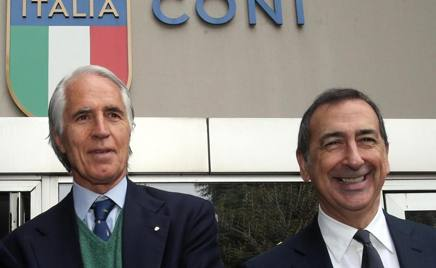 Il presidente del Coni, Giovanni Malagò, e il sindaco di Milano Giuseppe Sala. Ansa