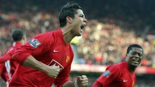 Ronaldo insieme ad Evra. AFP