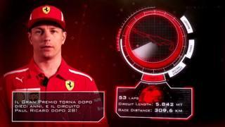 Kimi Raikkonen nel video Ferrari che spiega i dati di Le Castellet