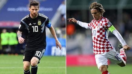 Leo Messi, 30 anni, e Luka Modric, 32, capitani di Argentina e Croazia. Afp