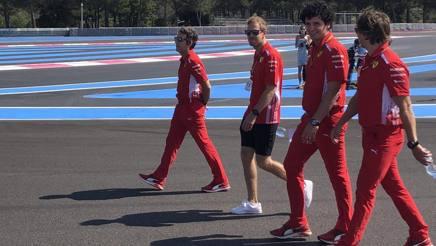 Sebastian Vettel in ricognizione giovedì mattina