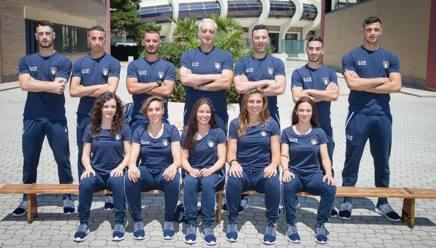 La Nazionale Italiana al Centro Olimpico Federale di Ostia prima della partenza per Terragona