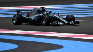 Lewis Hamilton al Le Castellet. Afp