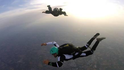 Il lancio con il paracadute