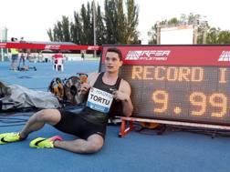 Filippo Tortu, 20 anni, a Madrid