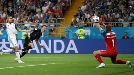 Il gol del 2-1 croato di Ivan Perisic. Getty
