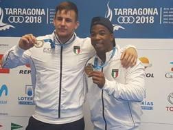 Simone Iannattoni, argento nei -97 kg, e Frank Chamizo, oro nei -74 kg ai Giochi del Mediterraneo