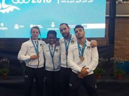 Paissoni, Gwend,  Mungai e Basile:   4 medaglie ai Giochi del Mediterraneo