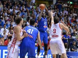Awudu Abass al tiro contro la Croazia CIAMILLO