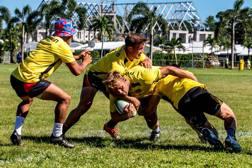 I tedeschi in allenamento a Samoa