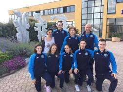 Foto di gruppo con gli azzurrini in gara ad Umago per la qualifica alle Olimpiadi Giovanili di Buenos Aires