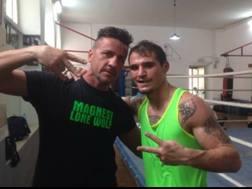 Michael Magnesi con l'allenatore Branco