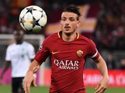 Alessandro Florenzi con la maglia della Roma. LaPresse