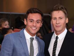 Tom Daley e il marito Dustin Lance Black. Getty