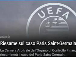 La notizia sul sito dell'Uefa