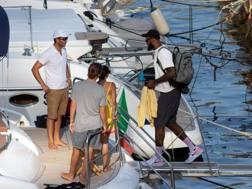 LeBron James sale sullo yacht che lo porta nell'arcipelago Li Galli. Andi/Toscana