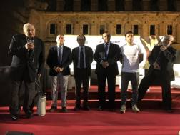 L'intervento di Nicola Tempesta, sul palco con lui il Prof. Giuseppe Tribuzio, Domenico Falcone, Giuseppe Matera, Pino Maddaloni, Luigi Nasti