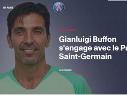 Gigi Buffon, ufficiale al Psg, sul sito del club francese
