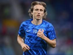 Luka Modric prima di Russia-Croazia. Getty