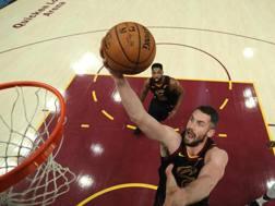 Kevln Love, 29 anni, nell'ultima stagione con la maglia dei Cleveland Cavaliers EPA
