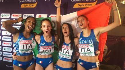 La staffetta d'oro con di Rebecca Menchini, Noemi Cavalleri, Alessia Cappabianca e Chiara Gherardi