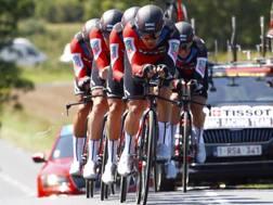 La Bmc ha vinto la cronosquadre  di Cholet, terza tappa del  Tour 2018 (Bettini)
