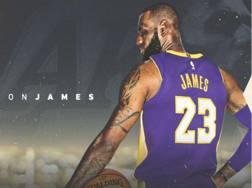 L'immagine di apertura del sito dei Lakers