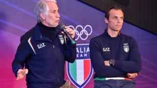 Giovanni Malagò, presidente del Coni, e il segretario generale Carlo Mornati. Ansa