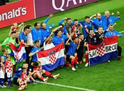 Festa Croazia a fine gara. Afp