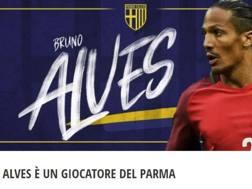 La notizia dell'acquisto di Bruno Alves sul sito del Parma