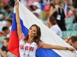 Una tifosa russa durante il Mondiale (AFP)