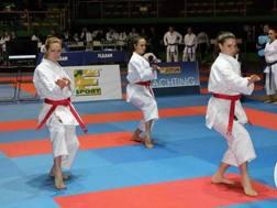 La squadra seniores dell'Emilia-Romagna, vincitrice del titolo kata nel 2016. Foto Damato