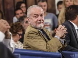 Il presidente Aurelio De Laurentiis. ANSA