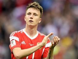 Aleksandr Golovin, 22 anni, centrocampista della nazionale russa. LaPresse