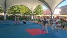 Martano, panoramica sui tatami allestiti in piazza