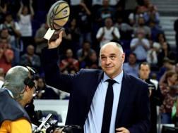 Pablo Laso ha vinto anche il premio di miglior coach della Liga. Epa
